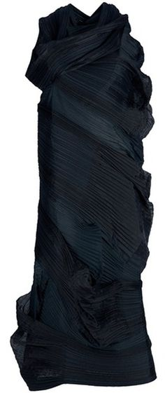 "ISSEY MIYAKE PLEATS VINTAGE ""WOW""   Draped Dress"