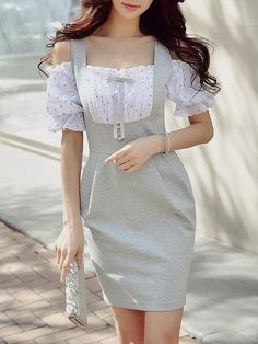 Shop Mini Dresses - Balloon Sleeve Girly Nylon Mini Dress online. Discover unique designers fashion at StyleWe.com.