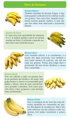 Tipos de Bananas e seus Benefícios!