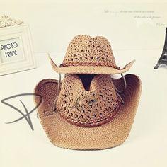 390e539850c66 Cheap Verano de la manera casquillo de la playa strawhat sunbonnet amantes  del sombrero de vaquero