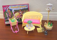 GLORIA DOLLHOUSE FURNITURE SIZE SUNLIGHT GARDEN W/ FLOWER PLAYSET FOR BARBIE