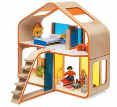 Gifts  The Modern Dollhouse   Plan Toys  Doll House Plans and    Plan Toys  toys  juguetes  jugueteria  tinytoy