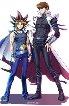 Yami And Kaiba (Colored) by Ycajal.deviantart.com on @DeviantArt