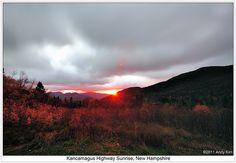 Morning sunrise at White Mountain, Kancamagus Highway, NH