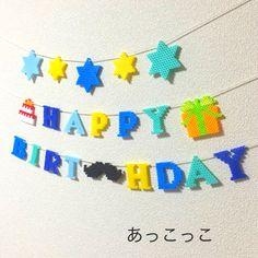 【1点限定】再販×5スター☆おヒゲお誕生日ガーランド・バースデーガーランド♡