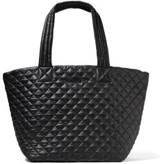 MZ Wallace Metro quilted shell tote (€240) via Polyvore featuring bags, handbags, tote bags, black, quilted tote bags, handbags totes, lightweight tote bag, foldover tote und light weight tote bag