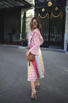 colorful pleated dress