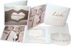 Fotokarte Hochzeitseinladung - Herzenswärme
