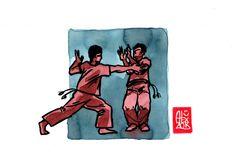 Encres : Capoeira – 514 [ #capoeira #watercolor #illustration]