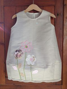 Romantic dress with hand made embroidery created by Giraffaela