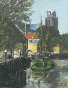 Dordrecht, Grote kerk vanaf de nieuwe haven gezien. Gert Stegeman