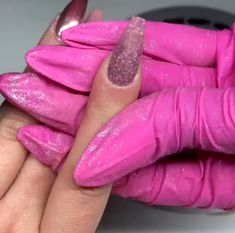 I Got Tired of Boring Nail Art - I never knew it was so easy to achieve outstanding nail art design.I can finally save big on nail d - Pink Nails, Glitter Nails, Gel Nails, Manicure, Acrylic Nail Powder, Powder Nails, Acrylic Nails Chrome, Perfect Nails, Gorgeous Nails