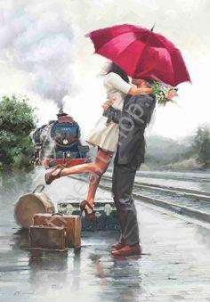 """Richard Macneil """"В ожидании поезда"""""""