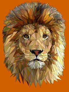 Fractal lion majesty