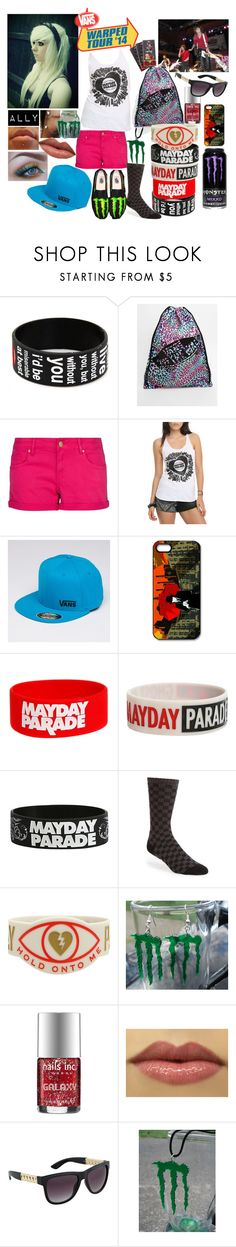 """""""Warped Tour 2014- Alyssa"""" by band-tees-and-skinny-jeans ❤ liked on Polyvore featuring Vans, MANGO, Flexfit, Nails Inc. and ALDO"""