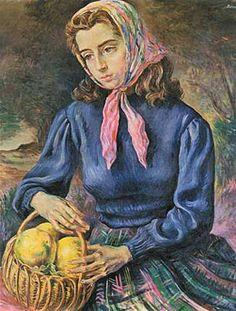 Pastoral, 1947, óleo s/tela, 97 x 78 cm. Col. privada Centenario, Mona Lisa, Jumpers, Portraits, Painting, Sweaters, Jackets, Documentaries, Vinyls