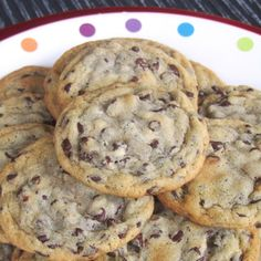 CHEWY CHOCOLATE CHIP COOKIES Recipe Desserts, Afternoon Tea with all-purpose flour, baking soda, salt, unsalted butter, dark brown sugar, white sugar, vanilla extract, yolk, eggs, semi-sweet chocolate morsels