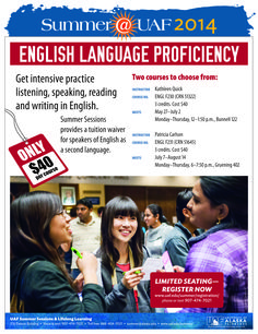 Become more proficient with the English language.