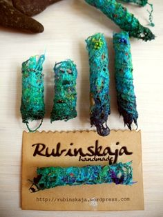 Rubinskaja handmade Textile Dread Beads #Dreadlocks #Textilschmuck