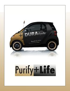 Battery Car wrap. Recycle your Batteries!  Indesign/Photoshop