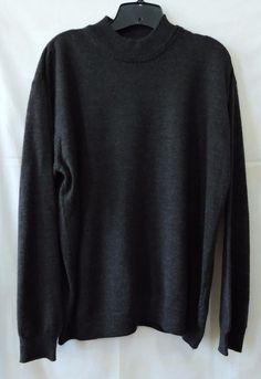 Feldini Men Black Wool Sweater Size XXL #Feldini #Sweater