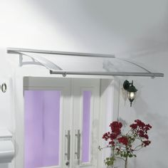 W x 3 ft. D Plastic Standard Door Awning Color: Clear Back Door Canopy, Acrylic Wall Panels, Polycarbonate Roof Panels, Patio Gazebo, Backyard, Window Awnings, Door Accessories, House Entrance, Entry Doors