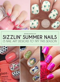 Check out these 15 blogger nails that are sure to shine this summer! #nailart #summernails #naildesigns