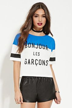 Forever 21 is the authority on fashion & the go-to retailer for the latest trends, styles & the hottest deals. Shop dresses, tops, tees, leggings & more! Forever 21 T Shirts, T Shirt Vest, Tees For Women, White Tees, Striped Tee, Latest Trends, Crop Tops, My Style, Clothes