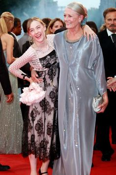 Saoirse Ronan and Vanessa Redgrave arrive for the Opening Ceremony and the Atonement Premiere at the 64th Annual Venice Film Festival on August 29...