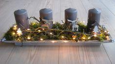 Adventskranz - ♥ wiederverbarer Adventskranz mit LED-Lichterkette - ein Designerstück von Sternenglanz-Clemens bei DaWanda