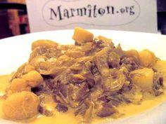Compoté d'endives au curry et pétoncles