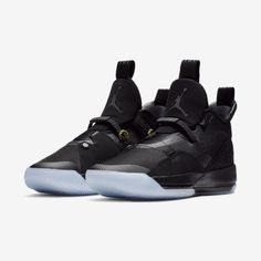 the latest 734a7 91bca Jordan XXXIII Utility Blackout Black Sneakers, Black Shoes, High Top  Sneakers, Adidas Sneakers