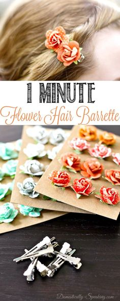 10 cute DIY hair accessories for girls! # hair accessories diy 10 Easy To Make Hair Accessories For Girls - Ducks 'n a Row Flower Hair Clips, Flowers In Hair, Fabric Flowers, Paper Flowers, Diy Flowers, Cute Diy Hair Accessories, Girls Accessories, Fashion Accessories, Diy Beauté