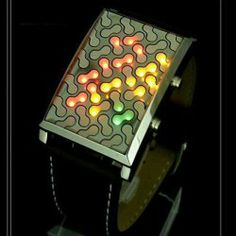 $6.51 New Genome Japanese Inspired Red Yellow Green LED Watch