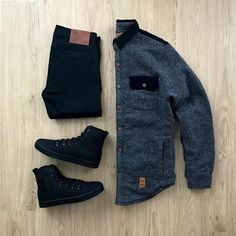 Prepared for a chilly LA evening. What accessory would you add to complete this outfit? Stylish Mens Outfits, Casual Outfits, Stylish Clothes, Tomboy Fashion, Fashion Outfits, Tomboy Stil, Modern Mens Fashion, Mens Attire, Outfit Grid