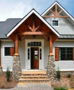 Walkers Cottage House Plan - 11137 - Garrell Associates, Inc. Cottage House Plans, Cottage Homes, House With Porch, House Front, Outside Storage Shed, Front Porch Design, Front Porch Addition, Front Porches, Building A Porch