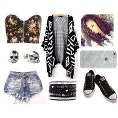 . by biianca-hemmings on Polyvore featuring beauty, Uncommon, Chan Luu, Kasun, Converse and Topshop