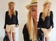 Beach outfit - never without a smile (by Britta B.) http://lookbook.nu/look/3801421-Beach-outfit-never-without-a-smile