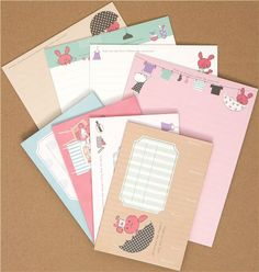 cute Chou-fleur bunny Letter Set from Japan Modes4u, Letter Set, Snail Mail, Mail Art, Cute Designs, Art Supplies, Stationary, Envelope, Bunny