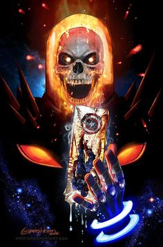 Cosmic Ghost Rider Destroys Marvel History # 1 A Greg Horn Art Store/Convention Exclusive CGC Options Ghost Rider Kostüm, Ghost Rider Drawing, Ghost Rider Tattoo, Ghost Rider Marvel, Marvel Comic Books, Marvel Characters, Comic Books Art, Comic Art, Marvel Villains
