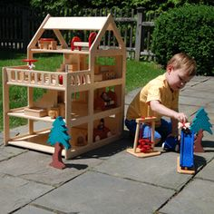 This dollhouse is PERFECT! Boys and girls both love to play with them.