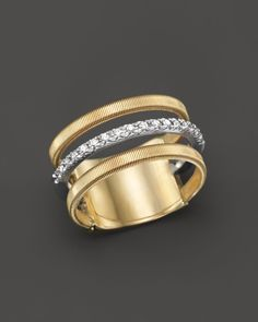 Marco Bicego 18K Yellow & White Gold Goa Ring with Diamonds - 100% Bloomingdale's Exclusive | Bloomingdales's