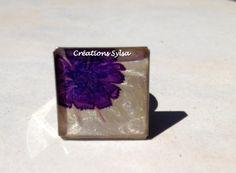 Ringe von hand bemalt Ring Tulpe Blume Ring Ring von CreationsSylsa