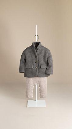 Double-Knit Cashmere Silk Blend Jacket | Burberry