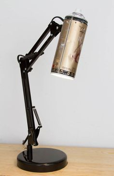 "Nice Recycled spray cans into desk lamps ""Spray Paint Lamps"" are creations of American designer Matias Pigni, aka Weasel Wrks, who recycles old and used spray paint canisters into origina."
