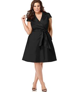 Spense Plus Size Short-Sleeve Wrap DressThere are other colors available.  Macy's.com