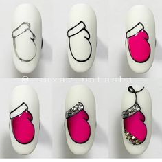 A small request, if you saved mk, put a smiley in the comment . Nail Art Noel, Xmas Nail Art, Xmas Nails, Holiday Nails, Diy Nails, Christmas Nail Art, Fancy Nails, Cute Nails, Pretty Nails