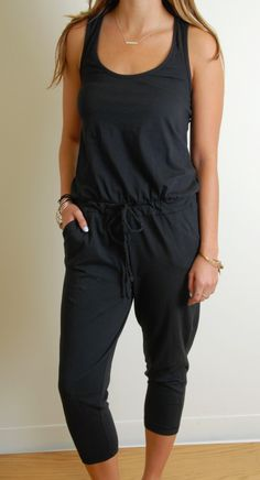 1ccc8f22029 BOBI RACERBACK JUMPSUIT ~ Rompers and Jumpsuits are all the rage this  season! We love