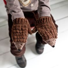 Crochet Hedgehog Mittens Kit and Crochet Book, DIY kit, by Slugs on the Refrigerator on Folksy, £25.00 - look so cute!
