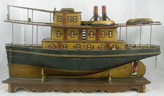 "19th Century Folk Art 25"" Boat"